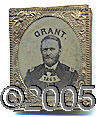 Political:Ferrotypes / Photo Badges (pre-1896), SCARCE LARGER SIZE 1868 DATED GRANT WITH FERROTYPE PORTRAIT. A f...