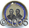 Political:Ferrotypes / Photo Badges (pre-1896), COLORFUL 1868 GRANT / COLFAX JUGATE FERROTYPE. Minor wear to the...