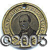 Political:Ferrotypes / Photo Badges (pre-1896), SCARCE LARGER 30MM 1860 BELL /EVERETT FERROTYPE. Significantly l...