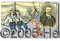 Political:Small Paper (1896-present), UNIQUE T.R. POST CARD WITH STUNNING GRAPHICS. We've never seen t...