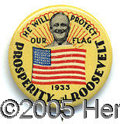 """Political:Pinback Buttons (1896-present), RARE MULTI COLOR 7/8"""" FRANKLIN ROOSEVELT PIN. This beautiful des..."""