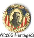 "Political:Pinback Buttons (1896-present), STUNNING MULTICOLOR DESIGN RARE 1 ¾"" 1908 TAFT BUTTON. Surely on..."