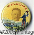 Political:Pinback Buttons (1896-present), CLASSIC MULTICOLOR TEDDY ROOSEVELT BUTTON RARITY. This terrific ...