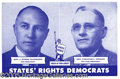 Political:Small Paper (1896-present), RARE JUGATE POSTCARD FROM STROM THURMOND'S FAMOUS 1948 3RD PARTY...