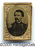 Political:Ferrotypes / Photo Badges (pre-1896), SCARCE 1864 MCCLELLAN CAMPAIGN FERRO (TINTYPE PHOTO) IN CHOICE C...