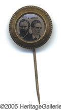 Political:Ferrotypes / Photo Badges (pre-1896), CHOICE 1876 HAYES AND WHEELER JUGATE FERROTYPE. This ferrotype i...