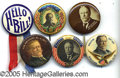 """Political:Pinback Buttons (1896-present), SIX DIFFERENT """"BETTER"""" 1 ¼"""" TAFT BUTTONS. Condition is great ex..."""