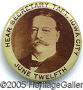 Political:Pinback Buttons (1896-present), RARE EARLY TAFT BUTTON WITH YOUNGER PORTRAIT AS A MEMBER OF THEO...