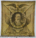Political:Textile Display (1896-present), UNUSUAL SMALLER-SIZE WILLIAM HOWARD TAFT WOVEN TAPESTRY. There ...