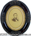 Political:3D & Other Display (pre-1896), STRIKING C. 1864-65 LINCOLN DISPLAY PIECE. Large albumin photo o...
