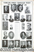 Political:Posters & Broadsides (1896-present), VERY RARE 1920 HARDINGCOOLIDGE MULTIGATE CAMPAIGN POSTER FROM VE...