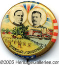 Political:Pinback Buttons (1896-present), ONE OF THE NICEST 1900 MCKINLEY-ROOSEVELT JUGATE BUTTON DESIGNS....