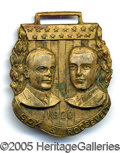 Political:Advertising, SCARCE HIGH-RELIEF VARIETY OF COX-ROOSEVELT JUGATE BRASS WATCH F...