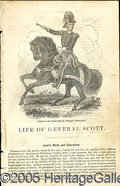Political:Small Paper (pre-1896), FINE 1852 WINFIELD SCOTT CAMPAIGN BIOGRAPHY PAMPHLET. Scott was ...