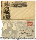 Political:Small Paper (pre-1896), TWO UNCOMMON 1864 JOHN C. FREMONT CAMPAIGN ENVELOPES. Fremont re...