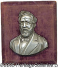 Political:3D & Other Display (pre-1896), HIGHLY UNUSUAL JAMES G. BLAINE PLAQUE. Rarely do we encounter su...