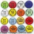 "Political:Pinback Buttons (1896-present), VERY DIFFERENT SET OF 1972 ANTI-NIXON AND PROMCGOVERN 1¼"" PINBAC..."