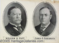 Political:Posters & Broadsides (1896-present), LARGE 1908 TAFT SHERMAN JUGATE POSTER. Minor damage in top right...