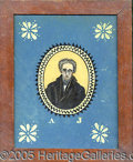 Political:3D & Other Display (pre-1896), RARE C. 1832 ANDREW JACKSON REVERSE-ON-GLASS PAINTING. This rath...