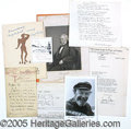 Political:Small Paper (1896-present), SUPER COLLECTION OF LEFT WING AUTOGRAPH MATERIAL. Consisting of:...
