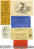 """Political:Small Paper (pre-1896), FASCINATING """"SALT RIVER"""" POLITICAL GROUP RANGING FROM THE CIVIL ..."""