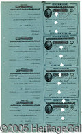 Autographs:U.S. Presidents, FIVE WILLIAM HOWARD TAFT AUTOGRAPHS. One of Taft's first politic...