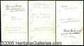 Autographs:Statesmen, AUTOGRAPHS OF SALMON P. CHASE'S SUPREME COURT FROM 1872 OR 1873....