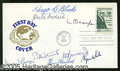 Autographs:Statesmen, COMPLETE AUTOGRAPH SET OF WARREN BURGER SUPREME COURT. All have...