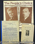 Political:Posters & Broadsides (1896-present), INTERESTING 1924 LAFOLLETTE GROUP LOT. Consists of: 1) Very scar...