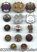 Political:Ferrotypes / Photo Badges (pre-1896), A VERY NICE GROVER CLEVELAND COLLECTION OF 14 PIECES. As shown, ...