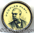 "Political:Ferrotypes / Photo Badges (pre-1896), SCARCE 1892 3RD PARTY STUD. Weaver's ""People's Party"" grew into ..."