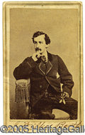 Photography:CDVs, JOHN WILKES BOOTH CARTE-DE-VISITE. Classic pose. Reverse with im...