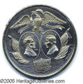 Political:Tokens & Medals, TERRIFIC LARGE 1864 LINCOLN-JOHNSON JUGATE CAMPAIGN MEDAL. A per...