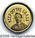 """Political:Pinback Buttons (1896-present), PRISTINE EARLY """"CAUSE"""" BUTTON. One of the earliest American """"soc..."""