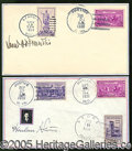 Autographs:Statesmen, A REALLY NEAT SUPREME COURT AUTOGRAPH LOT. Two 1938 and 1939 Fir...
