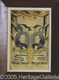 """Political:Posters & Broadsides (1896-present), 1844 CLAY AND FRELINGHUYSEN JUGATE CURRIER """"GRAND NATIONAL BANNE..."""