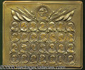 Political:3D & Other Display (1896-present), THREE NICE BRONZE-FINISH METAL PRESIDENTIAL PLAQUES. 1) Unusual ...