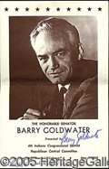 Autographs:Statesmen, REPUBLICAN RALLY PROGRAM AUTOGRAPHED BY BARRY GOLDWATER AND WIFE...
