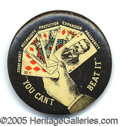"Political:Pinback Buttons (1896-present), INCREDIBLE NEVER BEFORE OFFERED 1¼"" T.R. DESIGN. This is only th..."