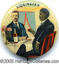 "Political:Pinback Buttons (1896-present), PRISTINE EXAMPLE OF THE SOUGHT AFTER COLOR TEDDY ROOSEVELT ""EQUA..."