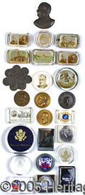 Political:Miscellaneous Political, COLLECTION OF 27 POLITICAL PAPERWEIGHTS. Quite a varied collecti...