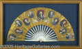 "Political:3D & Other Display (pre-1896), RARE, STUNNING 1844 JAMES K. POLK FAN. At the lower right is ""Pr..."
