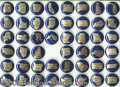 "Political:Pinback Buttons (1896-present), NEAR SET OF SCARCE IKE STATE BUTTONS. These blue and gold 1¼"" be..."
