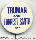"Political:Pinback Buttons (1896-present), KEY 2 1/8"" TRUMAN MISSOURI COAT-TAIL. One of the rarest Truman w..."