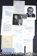 Autographs:Statesmen, TWELVE AUTOGRAPH ITEMS FOR PRESIDENTIAL AND VICE PRESIDENTIAL CA...