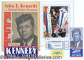 Political:Miscellaneous Political, VERY WORTHWHILE COLLECTION OF JFK PAPER CAMPAIGN ITEMS. 1) Red, ...