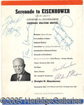 Autographs:U.S. Presidents, SERENADE TO EISENHOWER AUTOGRAPHED 1952 CAMPAIGN LOBBY CARD. Aut...