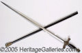 Political:Miscellaneous Political, KKK SABER AND SHEATH. Plummed Knight at the top of the saber han...