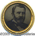"Political:Ferrotypes / Photo Badges (pre-1896), RARE LARGE 1880 GRANT ""HOPEFUL"" FERROTYPE. The portrait is a dis..."