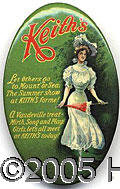 Advertising:Pocket Mirrors & Pinbacks, KEITH'S THEATRE POCKET MIRROR. An excellent 3 inch vertical ova...